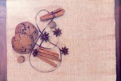 Kakor och kryddor Arkivbild