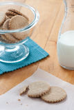 Kakor och mjölkar Arkivbild