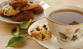 Kakor och tea Arkivbild