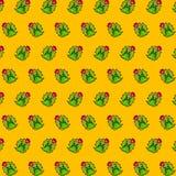 Kaktus - emoji Muster 78 lizenzfreie abbildung