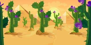 Kaktus gry tło Zdjęcia Stock