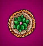 Kaktus i en blommakruka Fotografering för Bildbyråer