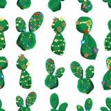 Kaktus med den tropiska modellen för färgrika blommor royaltyfria foton