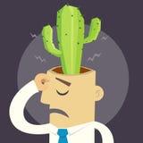 Kaktus w głowie ilustracji