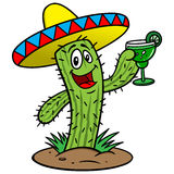 Kaktus z Margarita royalty ilustracja