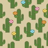 Kaktusa wzór Zdjęcie Stock
