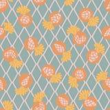 Kaktusblomma på Argyle Backgound Seamless Pattern stock illustrationer