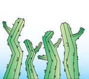 Kaktuskarikaturhintergrund Lizenzfreies Stockbild