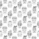 Kaktusowa bezszwowa deseniowa ilustracja ilustracji