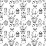 Kaktusowa bezszwowa deseniowa ilustracja ilustracja wektor