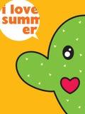 kaktusowa miłość Zdjęcia Stock