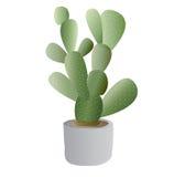 Kaktusowa roślina z garnkiem royalty ilustracja