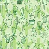 Kaktusowy bezszwowy powtórka wzór royalty ilustracja