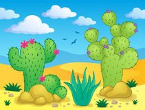 Kaktusowy tematu wizerunek 2 Zdjęcie Royalty Free