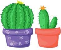 kaktusy dwa royalty ilustracja