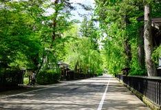 Kakunodate武士村庄在秋田,日本 免版税库存图片