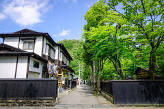 Kakunodate Samurai District in Akita, Japan. Kakunodate is a former castle town and samurai stronghold in Akita Prefecture Royalty Free Stock Photo