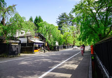 Kakunodate samurajby i Akita, Japan Arkivfoto