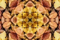 Kaléidoscope avec le bel ornamental de couleur Photos libres de droits
