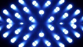 Kaléidoscope bleu d'ampoules banque de vidéos