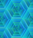 Kaléidoscope bleu sans couture abstrait de texture illustration de vecteur