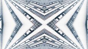 Kaléidoscope créatif de cadre avec le bourdon Panneaux solaires d'hiver dans la neige banque de vidéos