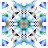 Kaléidoscope de batik avec la cerise Photos stock
