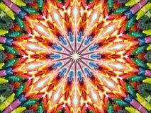 Kaléidoscope de crayon illustration de vecteur