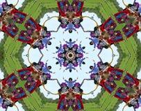 Kaléidoscope de gens de Hippie Images libres de droits