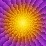 Kaléidoscope de rayon de soleil illustration stock