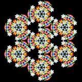 Kaléidoscope des décorations d'années neuves Image stock
