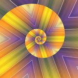 Kaléidoscope en spirale photos libres de droits