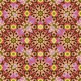 Kaléidoscope oriental d'ornement de fond sans couture Images libres de droits
