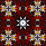Kaléidoscope saint #2 en verre souillé Photos stock