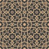Kaléidoscope sans couture de fleur de cadre de croix de la géométrie de polygone de fond de modèle de damassé de vecteur rétro Co illustration libre de droits