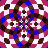 Kaléidoscope sans couture Fond géométrique de modèle Images libres de droits