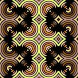 Kaléidoscope sans couture Fond géométrique de modèle Image stock