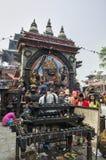 Kal Bhairav en el cuadrado de Katmandu Durbar, Nepal Imágenes de archivo libres de regalías