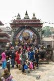 Kal Bhairav en el cuadrado de Katmandu Durbar, Nepal Fotos de archivo libres de regalías