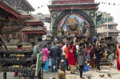 Kal Bhairav en el cuadrado de Katmandu Durbar, Nepal Fotografía de archivo libre de regalías