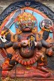 Kal Bhairav i Katmandu Fotografering för Bildbyråer