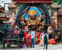 Kal Bhairav op Durbar-Vierkant in Katmandu, Nepal Royalty-vrije Stock Fotografie