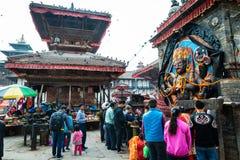 Kal Bhairav op Durbar-Vierkant in Katmandu, Nepal Royalty-vrije Stock Afbeelding