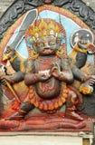 Kal Bhairav statue in Hanuman Dhoka square Stock Photography