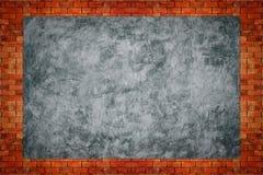 Kal concreter med gammal textur för tegelstenvägg Royaltyfri Foto