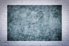 Kal concreter med vit textur för tegelstenvägg Royaltyfri Bild