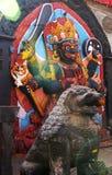 Kala Bhairab (nero), Shiva, Kathmandu, Nepal immagine stock