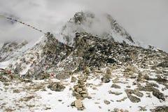 kala patthar的尼泊尔 库存照片