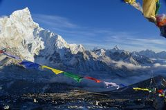 Kala Patthar Νεπάλ στοκ φωτογραφίες