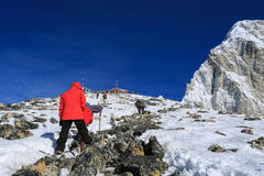 Kala patthar i pumo ri szczyt od Everest wędrówki Fotografia Stock